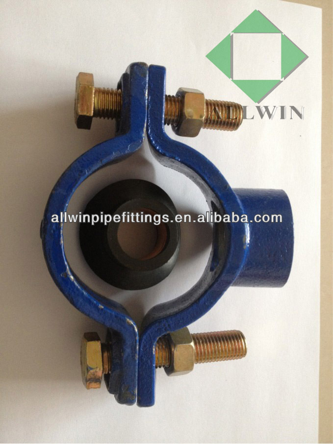 Cast Iron Saddle Clamp for PVC pipes
