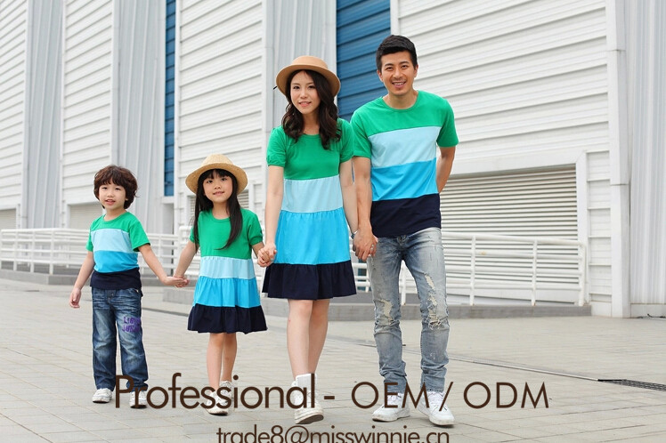 mother and daughter father and son solid dresses for family clothing set latest family of four summer wear