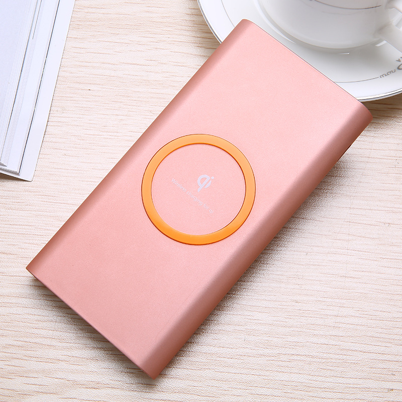 Portable power bank 10000 mAh qi high capacity Phone Wireless Charger powerbank Charge Mobile Phone Charger for iphone 7