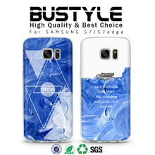 Blue style oil painting Soft tpu case for Samsung Galaxy s6 s7 edge+ mobile phone bumper case