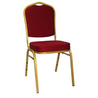 Wholesale cheap price used gold steel fabric luxury hotel catering stackable dining wedding church banquet chair for sale