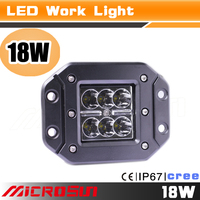 "18w Spot 3x3 Dually Flush Mount 3"" 1620LM Spot LED light for Off Road 4x4 4wd Jeep Truck F150 Tacoma Bumper"