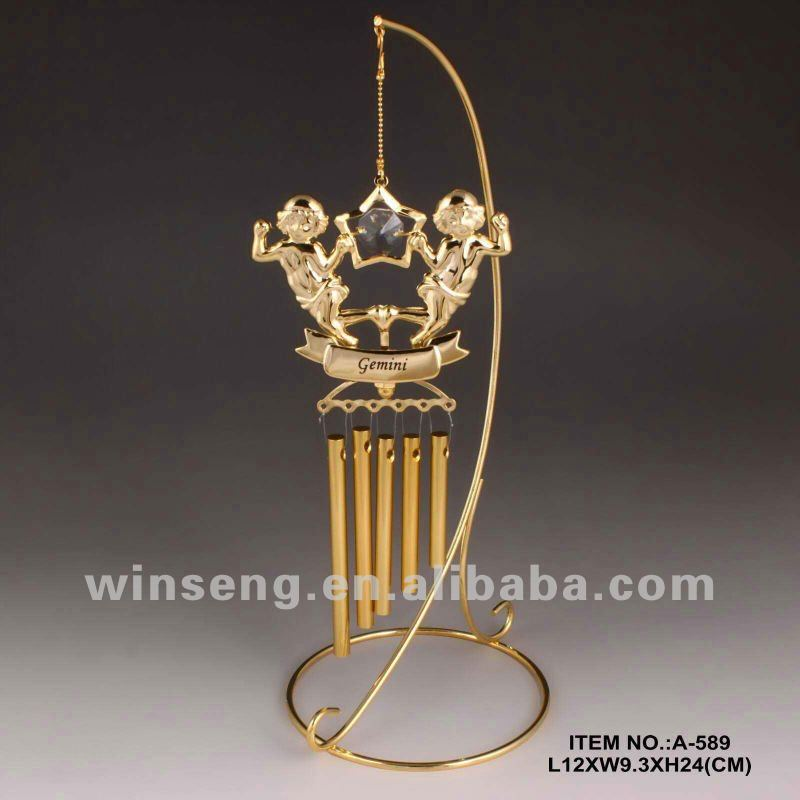 Gold Plated Garden Decoration Wind Chime