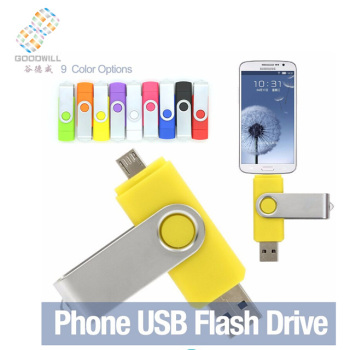 1G/2G/4G/8G/16G/32G Hot selling swivel /twister otg usb drive ,usb memory stick