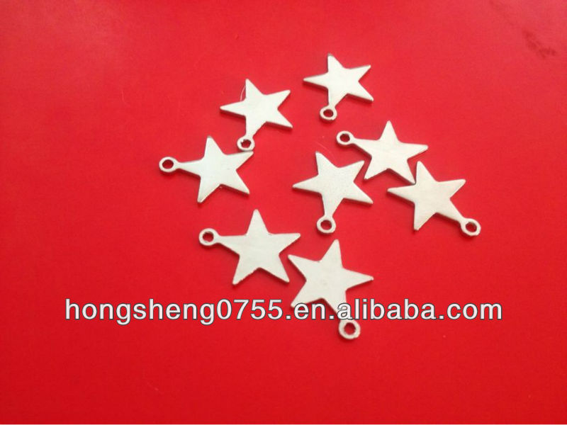 Fashion Metal colourfull star Charm custom metal star charm pendants