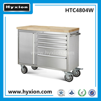 48 inch small stainless steel metal tool box with 4 drawers