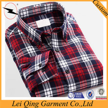 Designer mens check flannel cotton shirts for men
