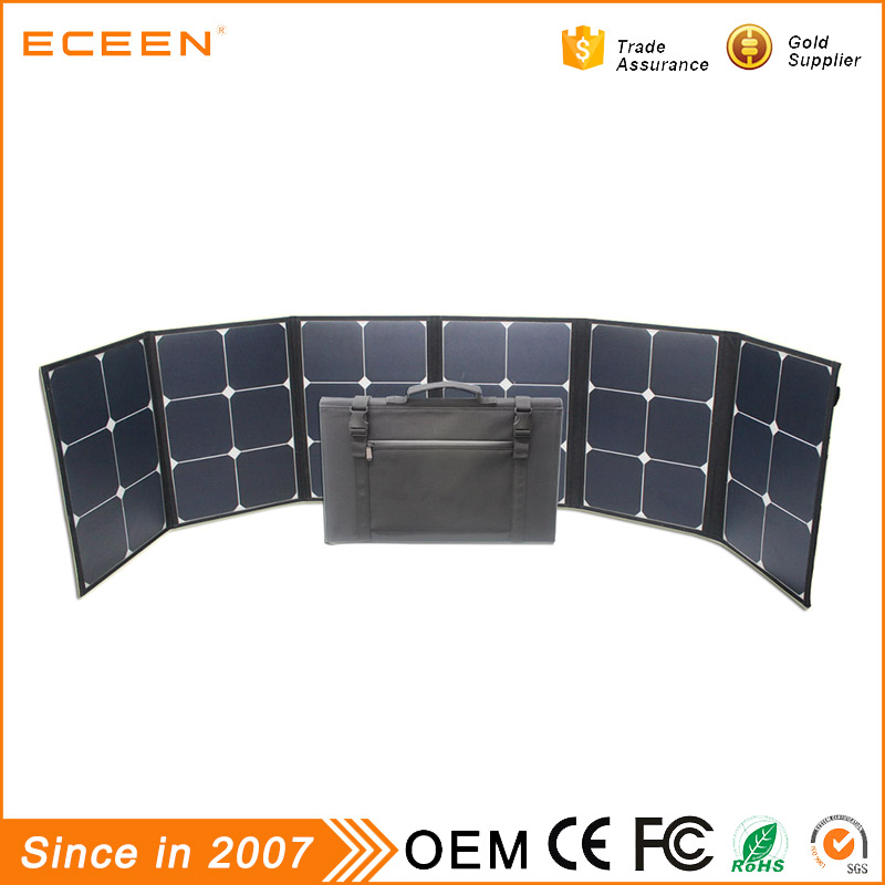 cheap factory price 120W high power New design portable foldable roof solar panel