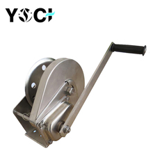 Yoci small wire rope hand worm gear winch with brake