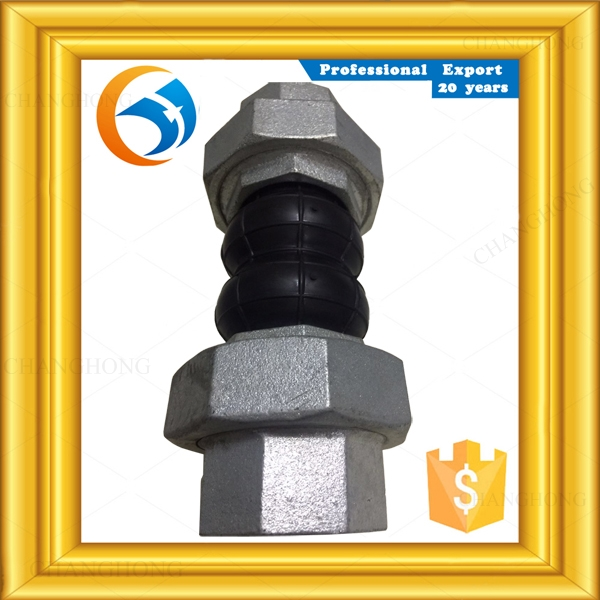 Superior valves double sphere screwed rubber expansion joints