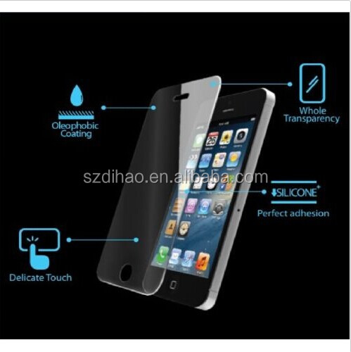 0.33mm Slim 2.95D Arc Edge 8-9H Top Sticker Tempered Glass Explosion Shatter Proof Screen Protector Film For iPhone 5 5S 5C iPho