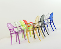 Plastic chair furniture acrylic chair with arm chair