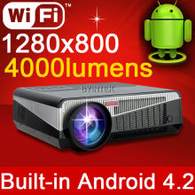 New Built-in Android 4.2 Smart Wireless Wifi RJ45 Home Theater Mini Portable HD LED Video 1080P TV Projector Beamer