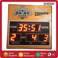 Promotional High-End Metal Wall Clock Year Month Day Date