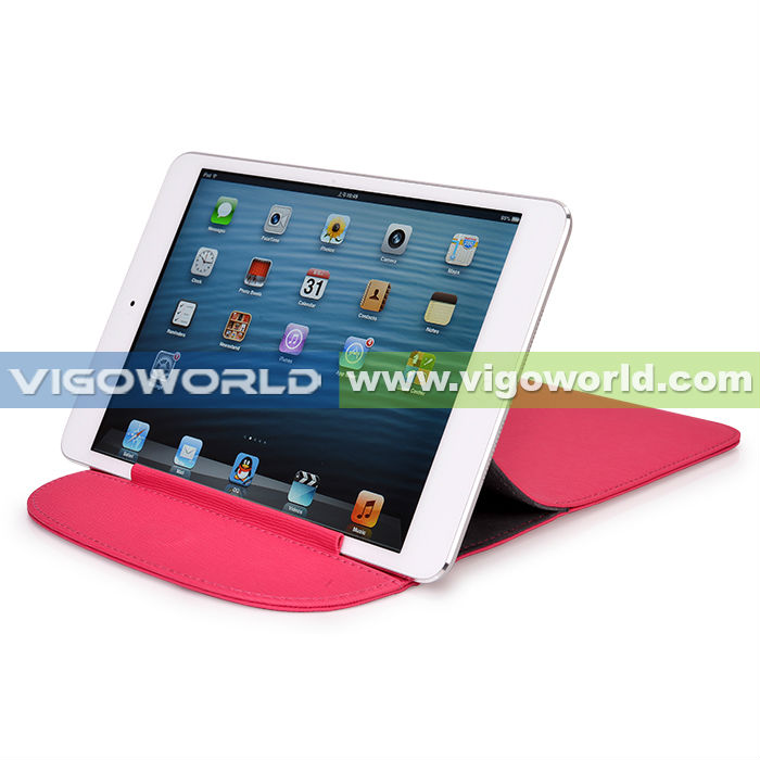 Vigo Leather Envelope tablet Sleeve Case For iPad Mini With Stand