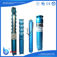 Electric vertical centrifugal multistage QJ deep well submersible pump