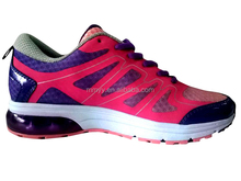 Breathable mesh lace-up women sports shoes