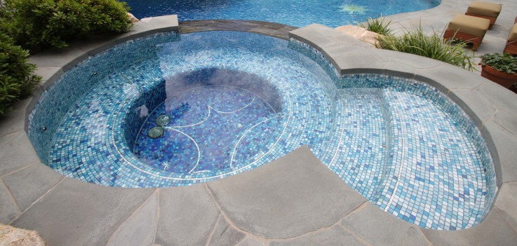 summer hot-sale bright blue swimming pool tiles bathroom ceramic