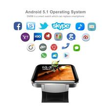 wrist watch big screen mobile phone MTK6572 quad core 900amh 512MB+4GB 3G GPS video call smartwatch android wifi watch phone