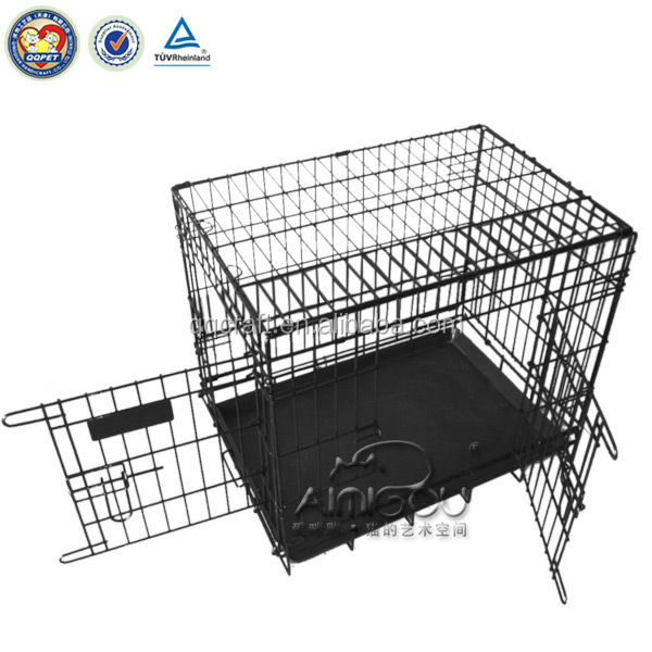 China Wholesale foldable stainless steel dog cage