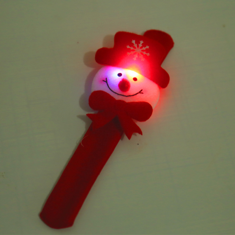 Children Toys LED Bracelet Luminous Snowman Christmas Tree Santa Claus Kids Boys Girls Wrist Strap Gifts