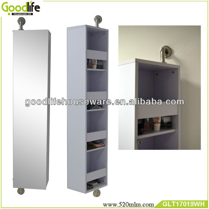home storage bathroom vanity cabinet with dressing mirror