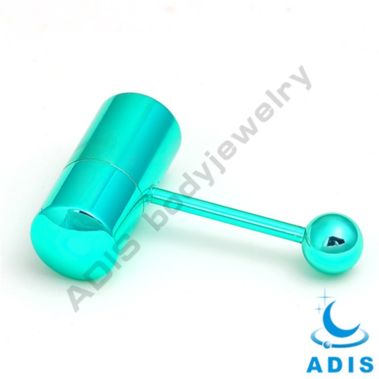 Surgical steel wholesale anodized body tongue vibrating piercing