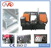 Hydraulic Horizontal band saw machine /cutting nickel chromium steel machine saw