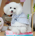 2015 striped dog clothes ,fashion playboy shirt for dog