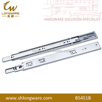Silent soft closing metal draw guide rail drawer system