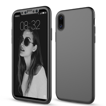 2018 trending case for iPhone x , 3 in 1 PC back with screen protector 360 <strong>protective</strong> for iphone x cover