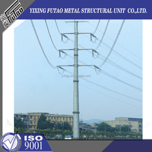new design 110kv hot dip galvanized electric pole