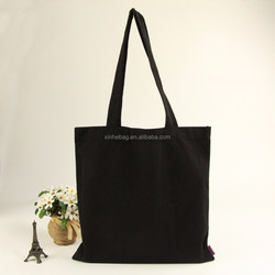 China custom wholesale cheap plain 12oz cotton canvas shoulder tote bag for shopping