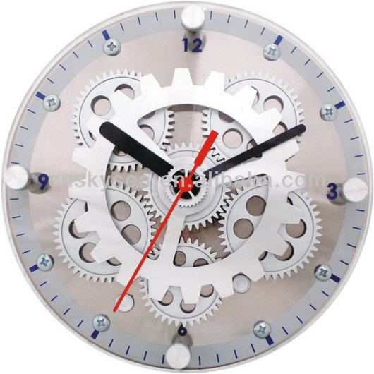 Moving Gear Table/Wall Clock