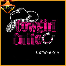 letter design rhinestone motif heat press transfers for t-shirt