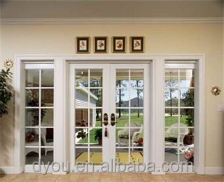 Fashionable New Style Aluminum Used Exterior French Doors