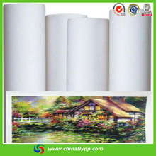 FLY hot sell printing blank polyester canvas, canvas printing, Matt Waterproof Art Fabric,