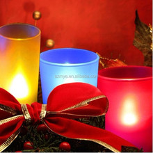 Flameless indoor festival holiday decorative gift battery candle lamp light