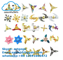 high quality fidget hand metal colorful finger spinner toy for kids and alduts ADHD