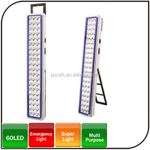 Hot sale super light multi-color 60LED waterproof led rechargeable emergency light