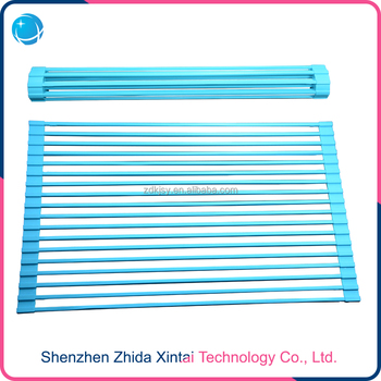 Good Quality Kitchen Over the Sink Roll-up Dish Draining Rack