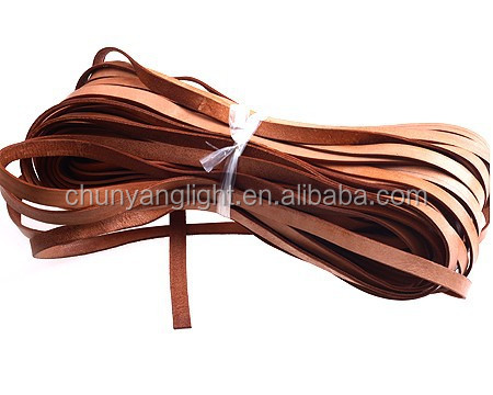 Origin Color Width 10mm Thickness 2mm genuine cowhide flat leather cord