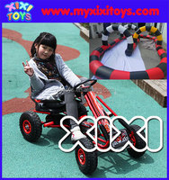 Pedal go kart for inflatable track racing field