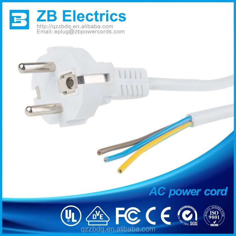 16A/250V 2 flat pin plug ,Eu /France Ac Power Plug Standard European Style Power cords Electrical Appliance China made