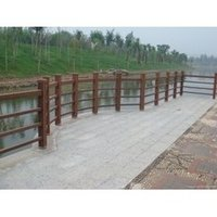 Open-air Wood Plastic Composite Upright Post Of Fence