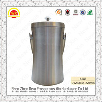 Wholesale custom creative double galvanized bucket with lid