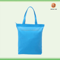 high quality customized eco zipper canvas bags plain