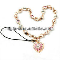 Lovers phone strap heart shape cellphone strap