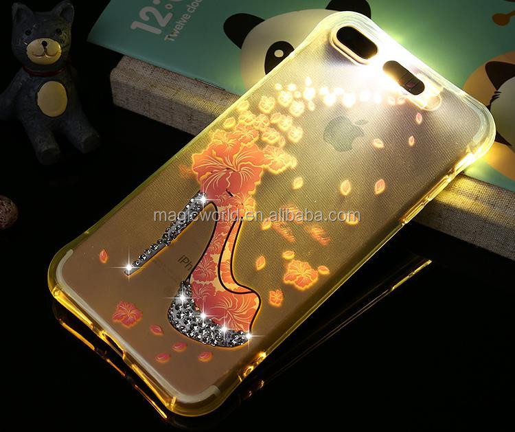 Crystal Studded LED Light Up Phone Case For iPhone 7 7Plus