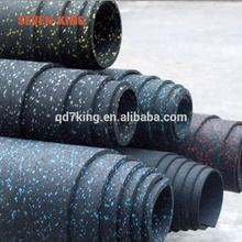 High Quality recycled gym rubber flooring / rubber gym flooring with factory price